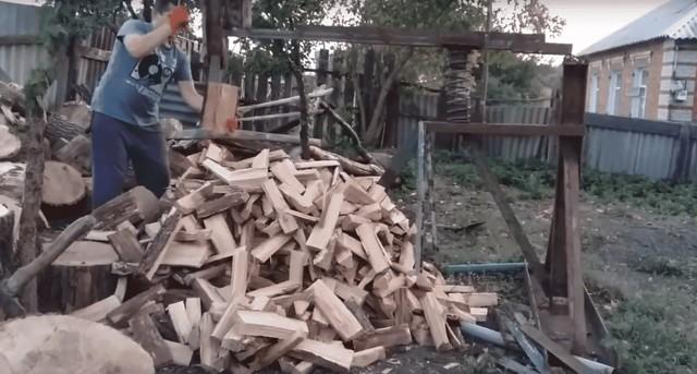 Топор колун для дров: как сделать пружинный механический дровокол своими руками по чертежам