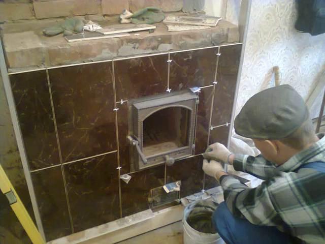 Как обложить печь кафельной плиткой в доме своими руками
