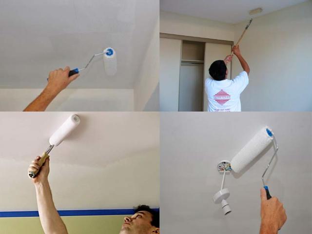 Каким валиком лучше красить потолок водоэмульсионной краской?