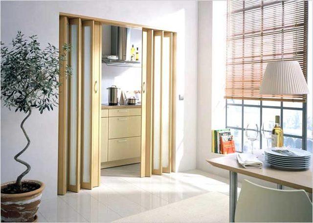 Дверь гармошка – установка, сборка своими руками, пошаговая инструкция