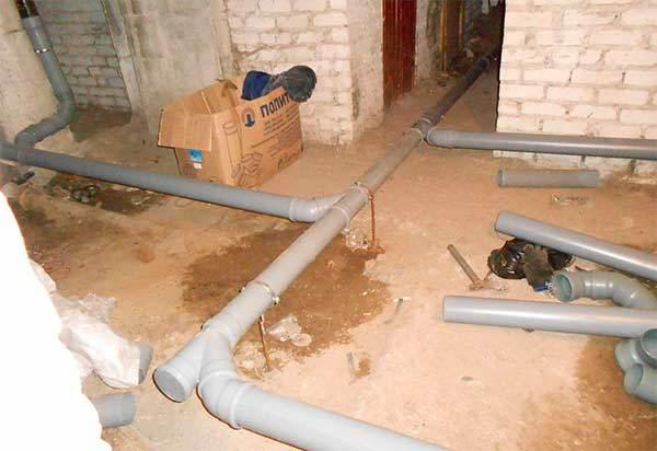 Монтаж канализации и канализационных труб