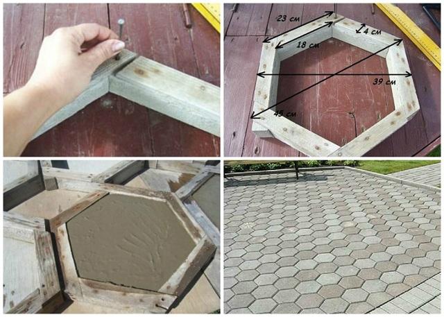 Формы для тротуарной плитки своими руками: как сделать?