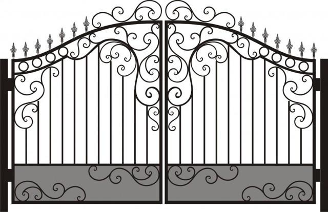 Как сделать ворота своими руками: чертежи, эскизы, конструкция