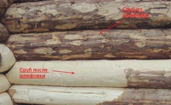 Шлифовка сруба: чем шлифовать бревна