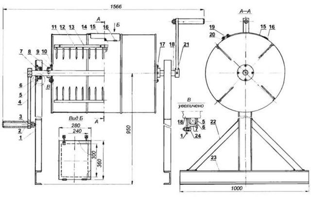 Как сделать бетономешалку своими руками: чертежи, инструкция