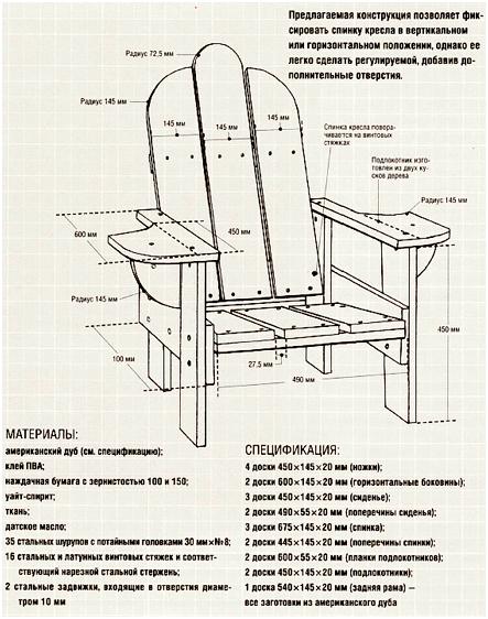 Сделать кресло своими руками из дерева, подручных материалов с подлокотниками и без