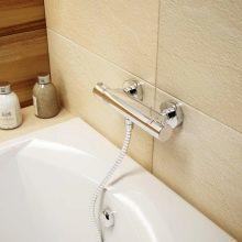 Кран с терморегулятором для душа в ванной