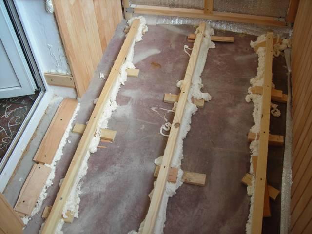 Деревянный пол на балконе своими руками