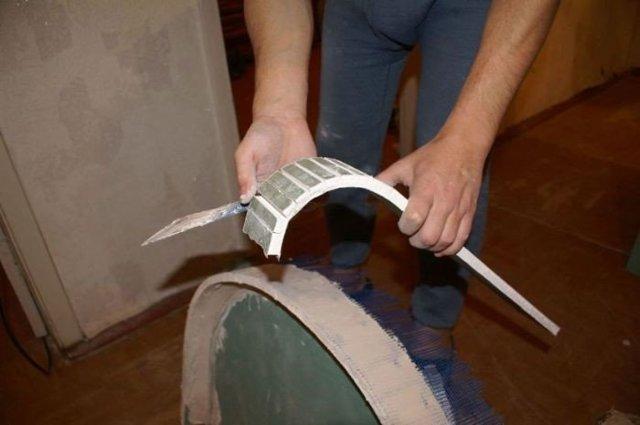 Как согнуть гипсокартон для арки своими руками в домашних условиях