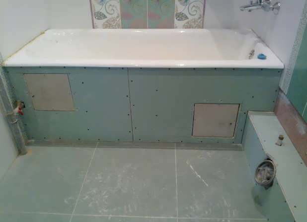 Влагостойкий гипсокартон в ванной комнате под плитку: как клеить своими руками?