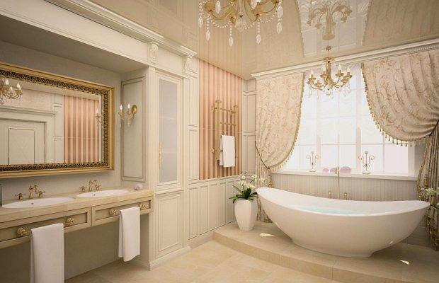 Как сделать и обустроить ванную комнату в частном доме, проекты ванных комнат.