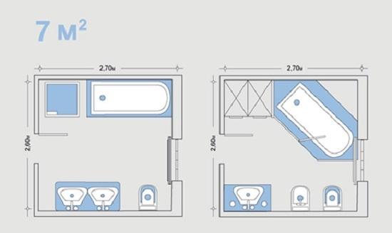 Планировка совместного санузла: варианты дизайна