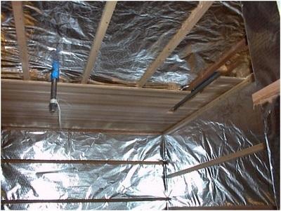 Пароизоляция для бани: фольгированная, на потолок и стены