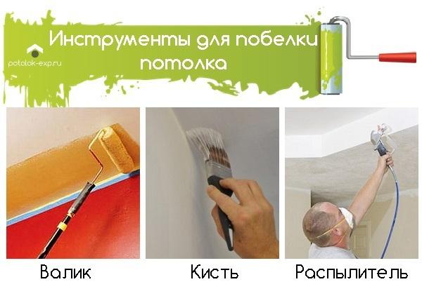 Как побелить потолок правильно своими руками по старой побелке