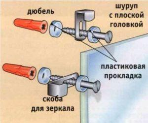 Как повесить зеркало без рамы на стену: крепление, держатели