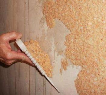 Жидкие обои: технология нанесения, как снять со стены