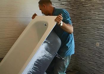 Установка ванны до или после укладки плитки
