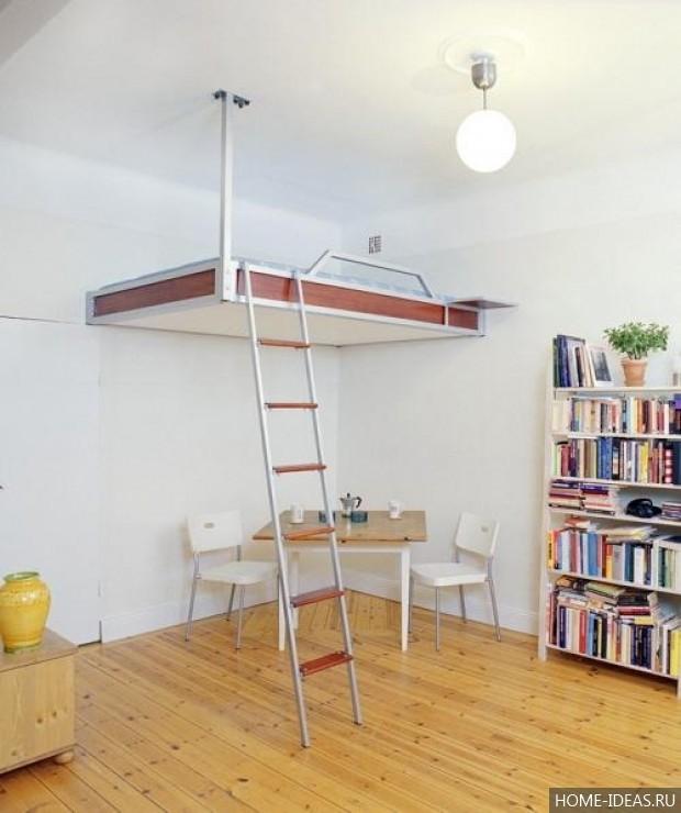 Как сделать второй этаж в комнате с высокими потолками