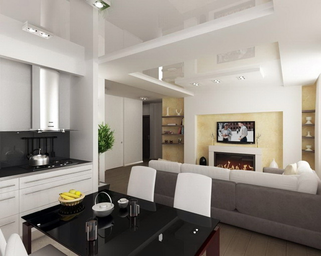 Перепланировка квартиры: объединение кухни и комнаты, снос стены