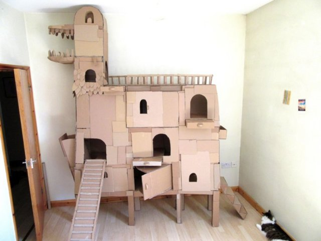 Как сделать домик для кошки своими руками: пошаговая инструкция, чертежи