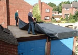 Ремонт крыши гаража своими руками