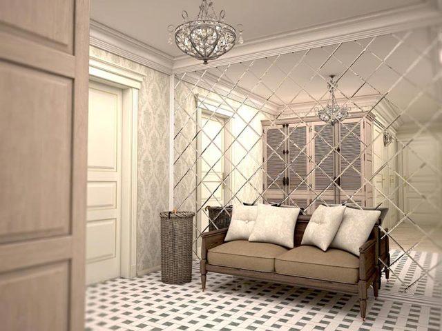 Монтаж зеркал на стену, плитку, гипсакартон