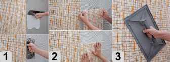 клей для мозаики на сетке