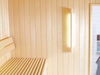 Освещение в бане, в парилке: сделать свет своими руками
