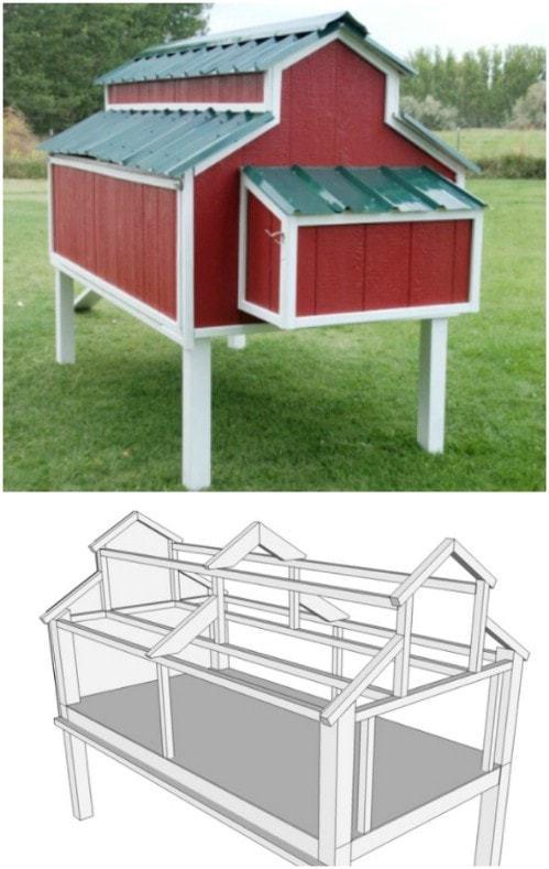 Как правильно сделать курятник зимний своими руками: проект постройки на даче, размеры