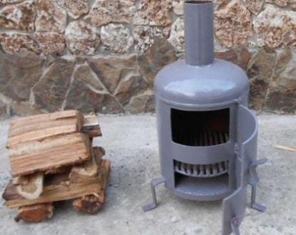 Самодельная дровяная печь для гаража своими руками