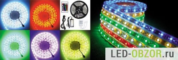 Светодиоидная лента для подсветки потолка: виды и особенности