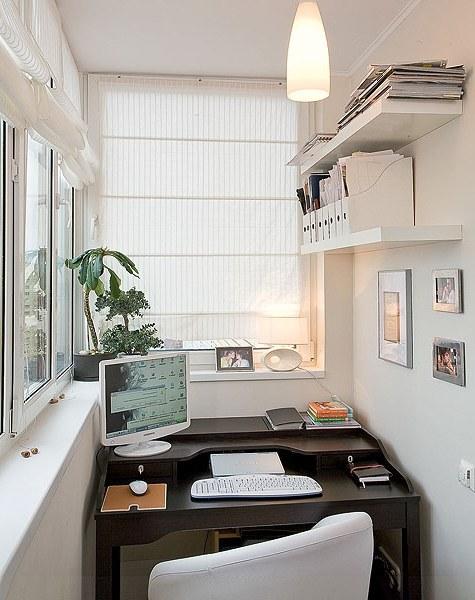 Кабинет на балконе: дизайн и как сделать своими руками