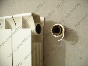Удлинитель потока (протока) для биметаллического радиатора