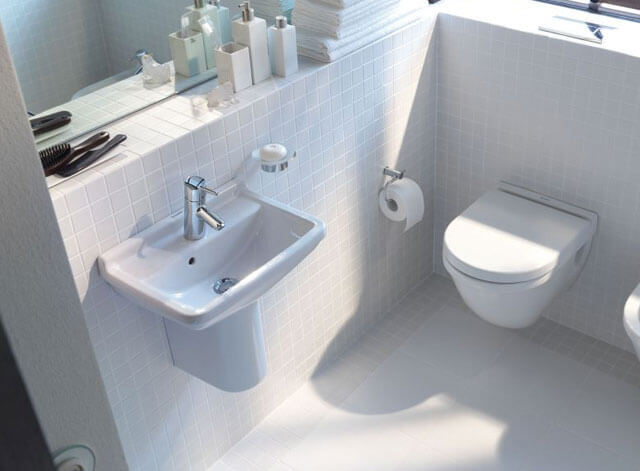 Крепление раковины к стене в ванной
