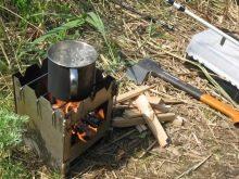 Как сделать походную печку своими руками