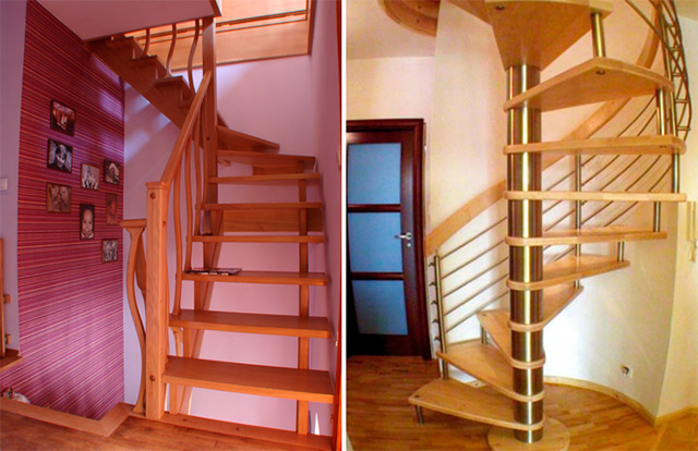Лестница на мансарду в небольшом доме: как сделать своими руками
