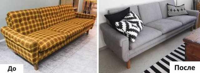 Реставрация старого пружинного дивана своими руками