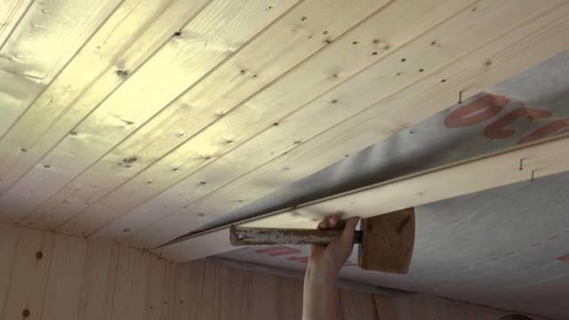 Монтаж вагонки на потолок своими руками