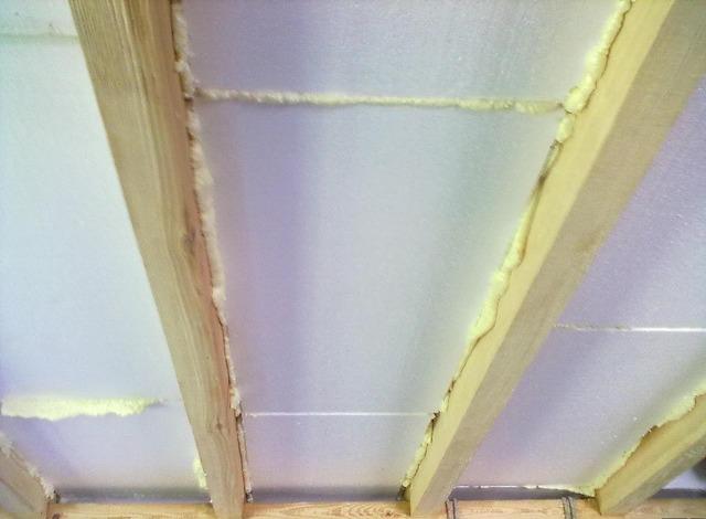 Утепление чердачного перекрытия по деревянным балкам, железобетонной плите