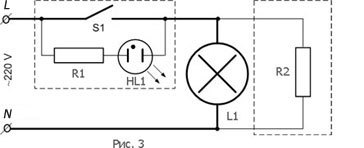 Почему светодиодные лампы горят при выключенном выключателе?