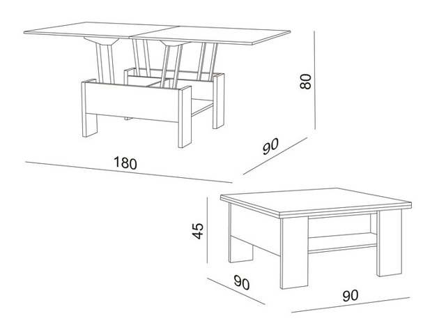 Как сделать журнальный столик своими руками: чертежи с размерами