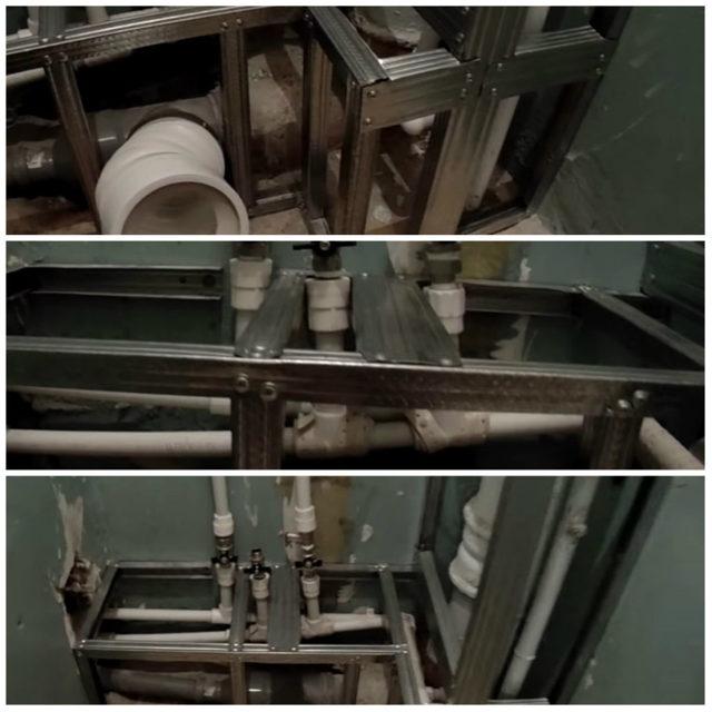Как сделать короб для труб в ванной своими руками