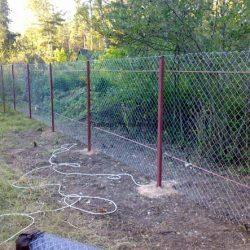 Забор из сетки рабицы своими руками пошагово