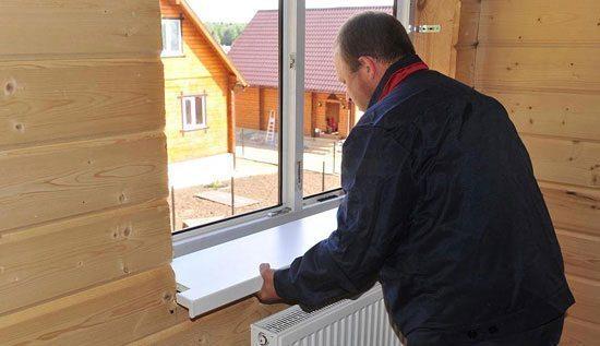 Установка пластиковых окон в деревянном доме своими руками