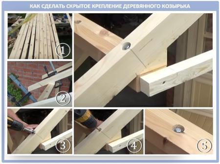 Как сделать козырек над крыльцом (навес) из металла своими руками