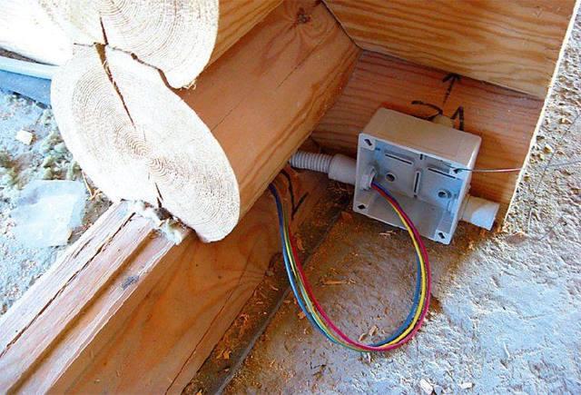 Монтаж скрытой проводки в деревянном доме своими руками