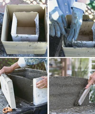 Уличные вазоны для цветов своими руками из бетона
