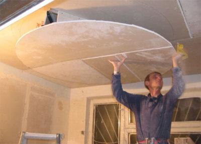 Как сделать двухуровневый потолок из гипсокартона своими руками