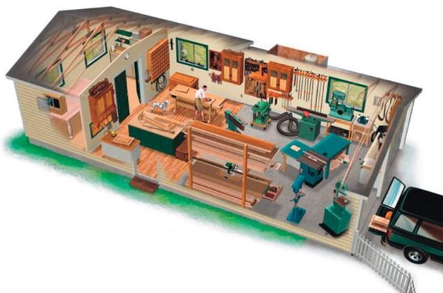 Домашняя столярная мастерская своими руками в гараже, на даче