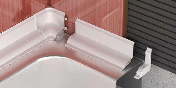 Плинтус для ванны: как приклеить своими руками
